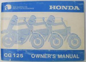 Honda-CG125-1990-MPKE2861I-A20008610-Motorcycle-Owners-Handbook