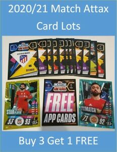 2020/21 Match Attax UEFA - Lot of 20 cards inc 2 shiny - Buy 3 Get 1 FREE