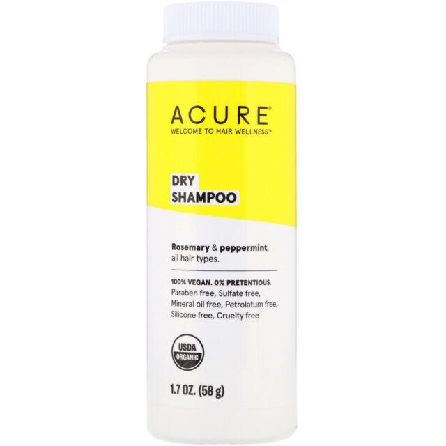 Acure Organics Organic Dry Shampoo 1 7 Oz 48 G Cruelty
