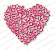 FLORAL HEART LACE DIE-Impression Obsession/IO Stamps (DIE054-S)-Steel/Wafer Dies