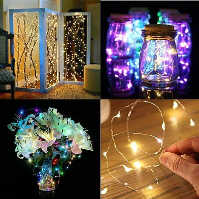 20/30/50 LED String Copper Wire Fairy Light Battery Powered Waterproof Xmas DIY