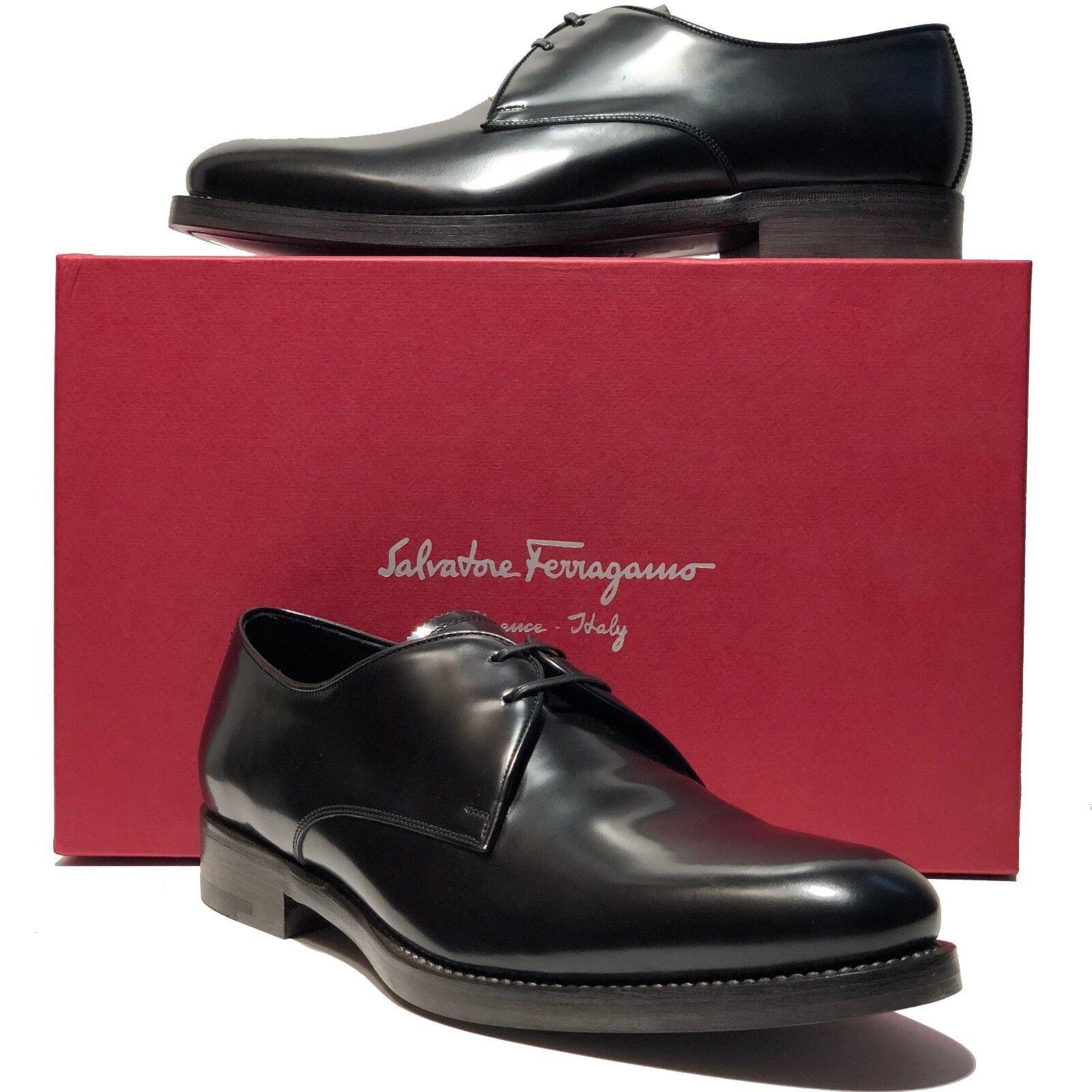 Ferragamo Gideon oficial cuero negro vestido negro Oxford zapato esmoquin boda