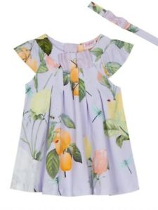 684d3bb683be Ted Baker - 'Baby girls' lilac rose print jersey dress BNWT | eBay