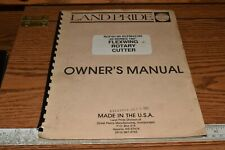 Land Pride 45 Series 180 Flexwing Rotary Cutter Owners Manual Rcf45180 Rcfm