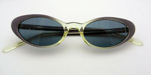 Vintage-Versace-Versus-E-73-Grey-Blue-Sunglasses-ITALY-made