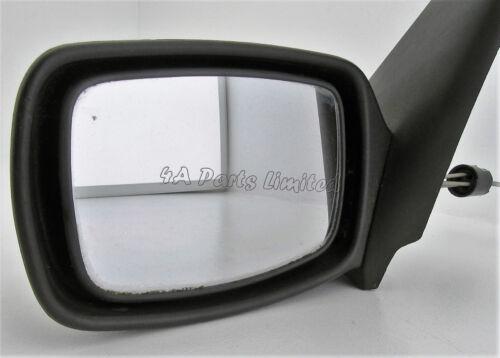 Left Side Manual Door Mirror Grained 95-99 Ford Fiesta MK4 Pre-Facelift