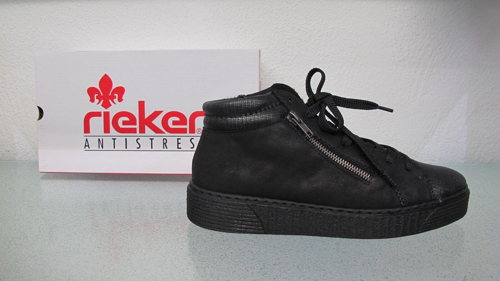 Rieker 51611-45 schwarz graphit Günstige und gute Schuhe