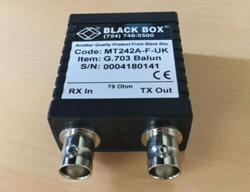 MT242A-F-UK Balun Mate II Black Box 75ohm to 120ohm