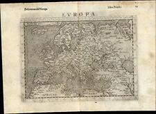 Europe continent 1599 Ruscelli Rosaccio antique map Iceland Arabia Asia minor