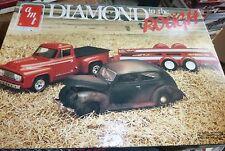 AMT Diamond in the Rough 1940 Ford 1953 Pickup W/TRAILER Model Car Mountain OPEN