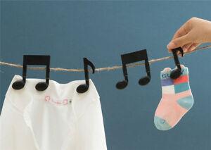 2Pcs Black Music Note Clip Book Page Clip Clothespin Memo Clip Music Score Clip