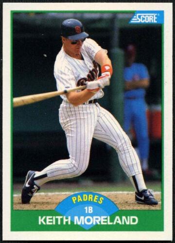 Keith Moreland padres #42 puntuación de 1989 Tarjeta de béisbol C380