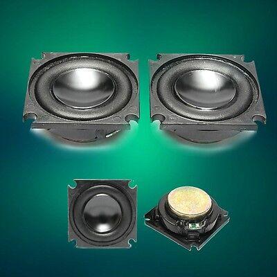 2Pcs Neodymium 4Ohm 4Ω 3W Full-range Audio Speaker Woofer Loudspeaker 36x36mm