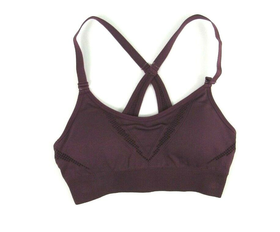 Women's Low Support Laser Cut Seamless Bra - All in Motion Mulberry Size Small