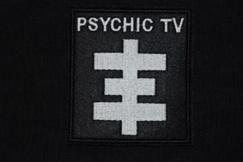 Psychic tv Patch Logo Symbol button shirt vintage pin Cross TOPY Psychick PTV