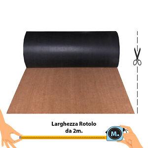 ROTOLO COCCO naturale da 2m, Zerbino cattura sporco, tappeto esterno su misura