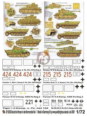 Peddinghaus 2020 1//72 Deutsche Panzer in der Normandie No 1