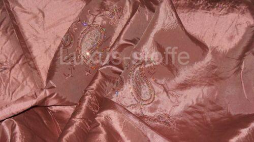 vestidos Taft kt865 lentejuelas sustancia bávara Gran Manton taftstoff paisley