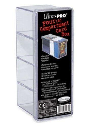Ultra Pro 4 Compartiment Rangement Boîte Pour Jeu Cartes Cales Cartes En Manches