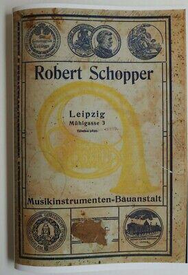 Leipzig Reprint Firmenkatalog um 1906 ROBERT SCHOPPER