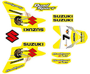 LTZ STICKERS 50 YELLOW KIT SUZUKI DECAL LTZ50 GRAPHIC xAw7F1q1g