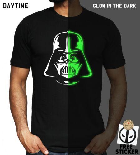 Darth Vader T-shirt GLOW IN THE DARK Star Wars Jedi Birthday Christmas Gift Top