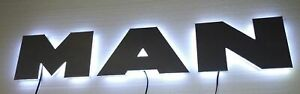 MAN-Edelstahl-Schild-mit-LED-Beleuchtung-MAN-stainless-steel-sign-LED-LKW