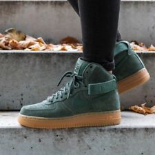 Nike Men's Air Force 1 High '07 Lv8 Suede Vintage Green Basketball Shoes 8  US