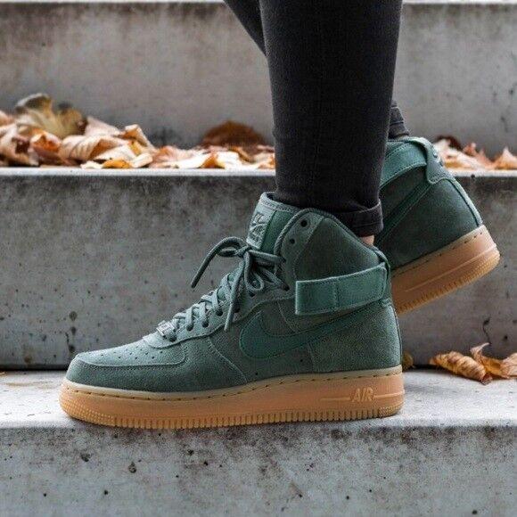 Nike Air Force 1 High '07 LV8 Suede Vintage Green Gum Men's Shoe Boots UK 7.5