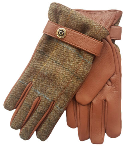 Dents Muncaster Men/'s Hairsheep Leather Gloves with tweed back