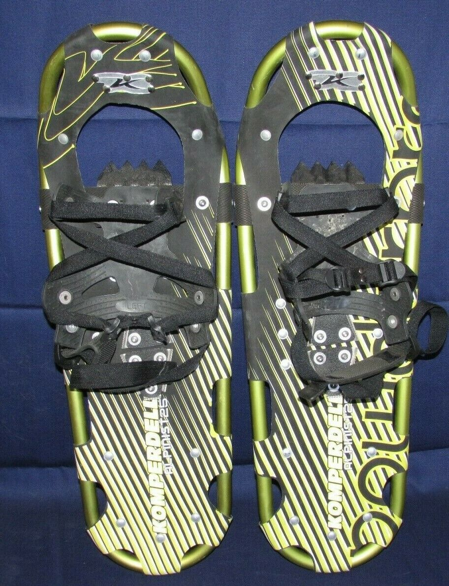 One Pair Komperdell Alpinst 25 Snowhoes Metal Ice Cleats and Bindings 25  X 8