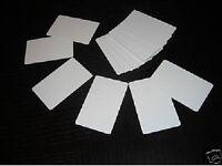 100 Blank Plastic Photo Id White Credit Card 30mil