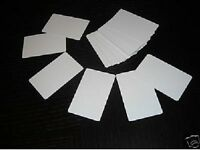 100 Blank Plastic Photo Id White Credit Card 30mil