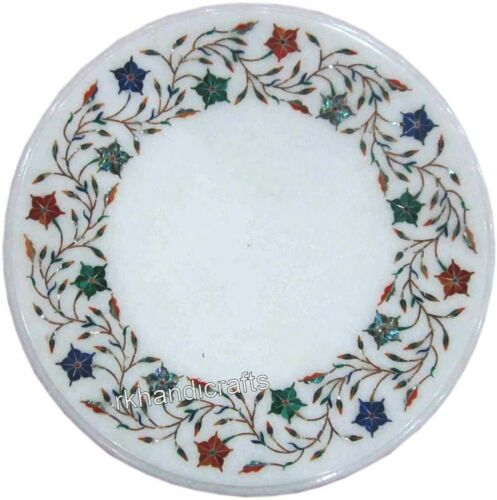 Details about  /Marble End Table Top with Multi Gemstone Inlay Coffee Table Handicrafts