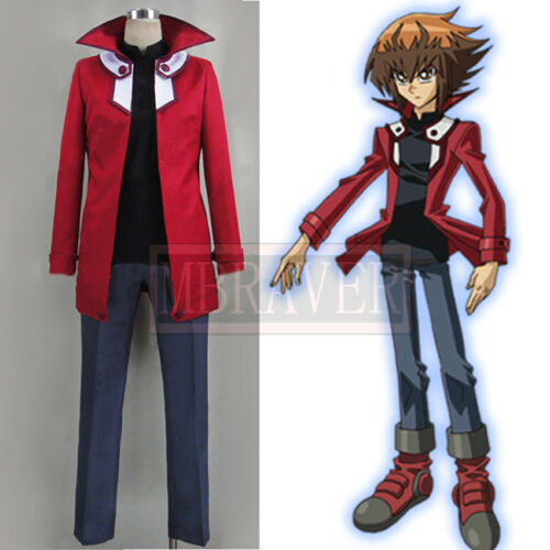 NEW Yu-Gi-Oh GX Yuki Judai Jaden Yuki cosplay shoes Boots Custom Made