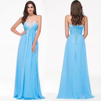 2015 Bridesmaids Long Womens Beaded Dres Wedding Evening Party Prom Maxi Dresses