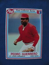 1990 Post Pedro Guerrero Cardinals first collector series card #22 $1 S&H MLB
