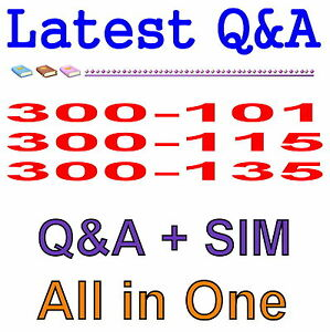 Details about Cisco CCNP 300-101 300-115 300-135 Routing Switching Exam Q&A  PDF+SIM