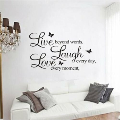 Quote DIY Removable Wall Decal Decor Vinyl Art Paper Mural Room Stickers Home