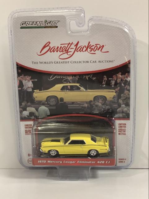 1970 Mercury Cougar Eliminator 428 CJ Barrett Jackson 1:64 Greenlight 37180A