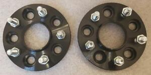 BLACK-Ford-Focus-MK2-MK3-inc-ST-RS-5x108-25mm-Hubcentric-wheel-spacers-1-pair