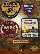 WIBC WOMAN AWARD 1976 LEAGUE CHAMPION BOWLING PINS PATCH VINTAGE TOURNAMENT