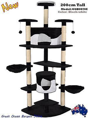 Cat Post Scratching Pole Scratcher Multi Level Climbing Cat Tree 2m High