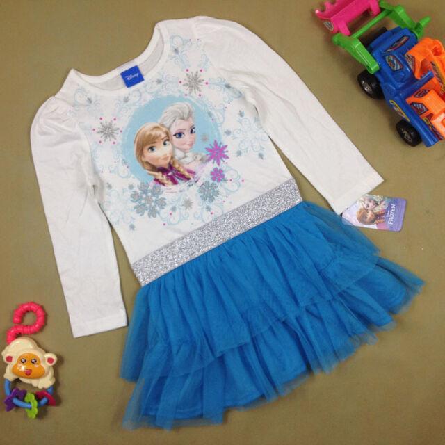 DISNEY Girl Frozen Long Sleeve Princess Dress Queen Elsa size 12m.18m.2.3.4.5