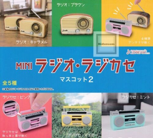J Dream Toys Capsule Gashapon MINI Radio Boombox Part 2 Full Set 5 pieces