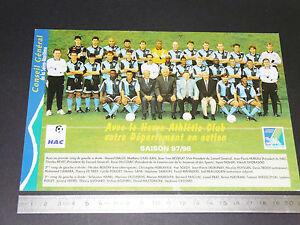 Calendrier Hac.Details Sur Rare Le Havre Athletic Club Hac Football Carte Calendrier France 1997 1998