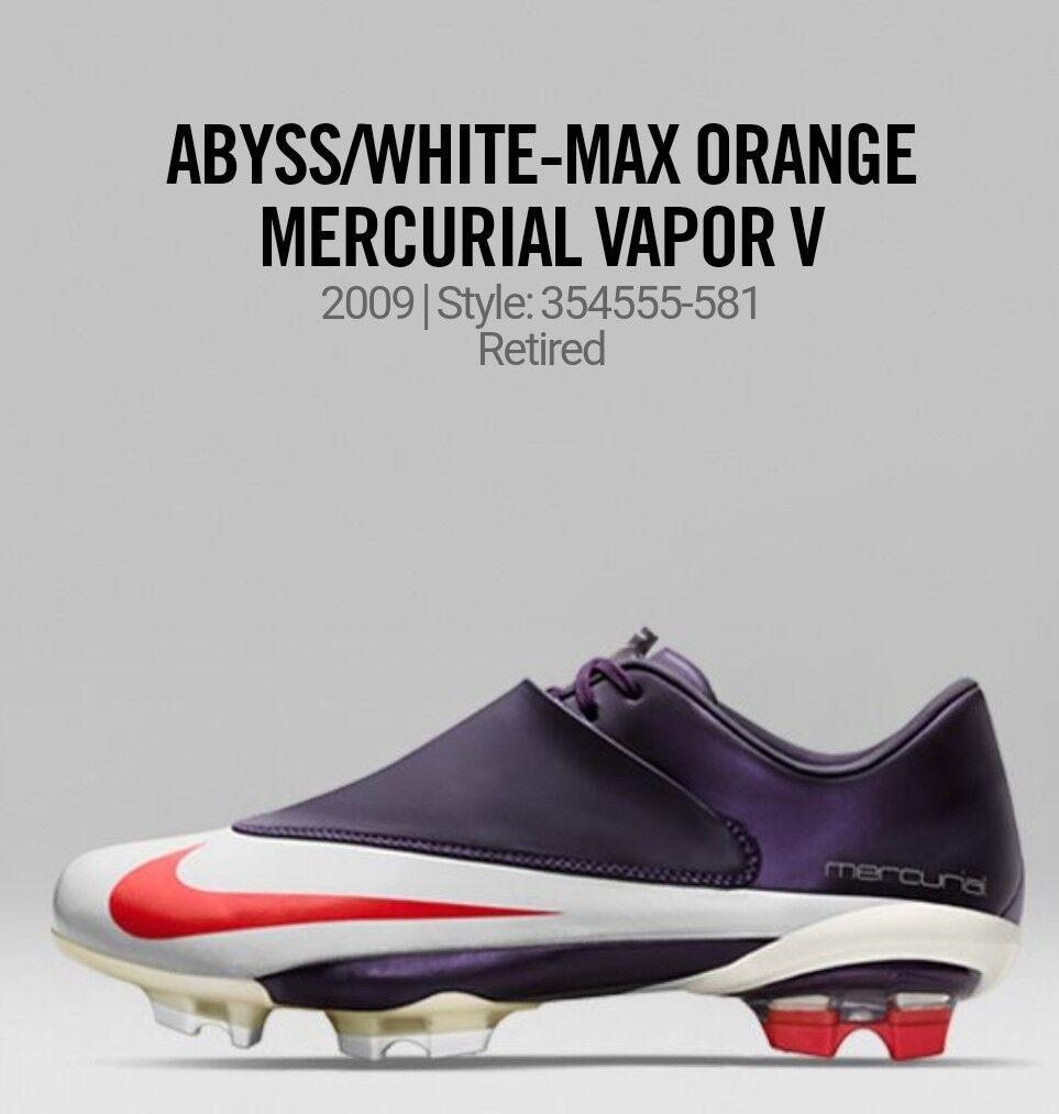 2009 Supremo Vintage Hecho en Italia Nike Mercurial Vapor V abismo Max Naranja blancoo