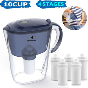 Eon home 10 Cup Drinking Water Pitcher Filters with 1 Filter, BPA Free Purifier