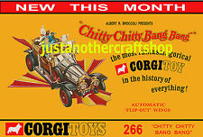 Corgi Toys 266 Chitty Chitty Bang Bang 1968 A3 Large Size Poster Advert Leaflet