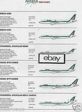 ALITALIA 2007 2 PG FLEET CHART/LA FLOTTA A320-MD-11 CARGO-777-MD80-A321-ATR72